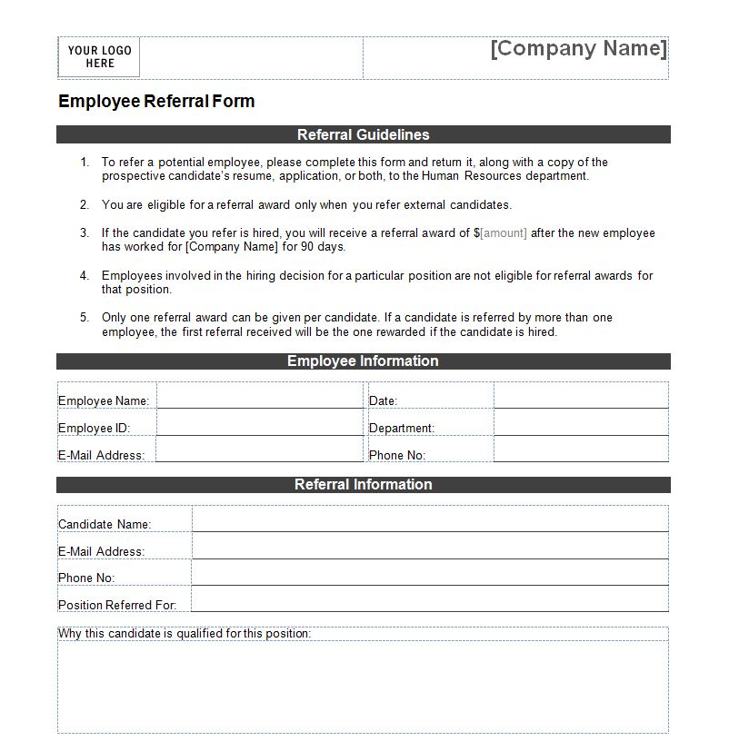 referral form templates   Mini.mfagency.co