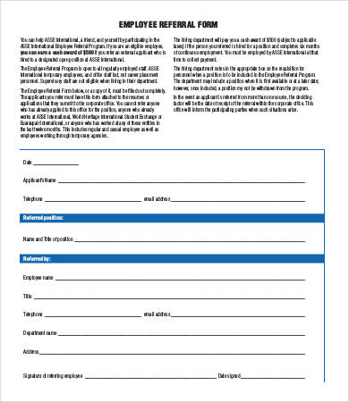 Referral Form Template   9+ Free PDF Documents Download | Free