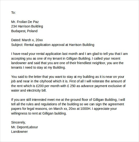 cover letter for renting an apartment   Ecza.solinf.co