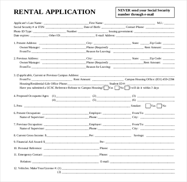 Rental House Application Inspirational Rental House Application