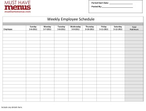 Restaurant Schedule Template   11+ Free Excel, Word Documents