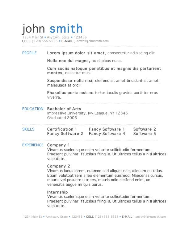 where are resume templates in word for mac resume templates word