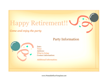 retirement flyer template free   Ecza.solinf.co