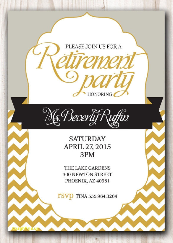 Retirement Announcement Flyer Template Free   Charlestonsurfrider.com