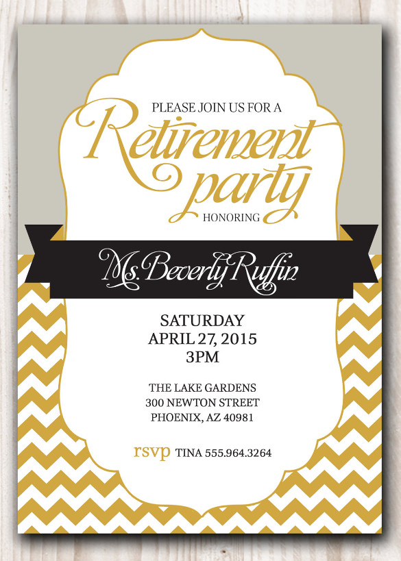 Retirement Flyer Template Emmamcintyrephotography Com