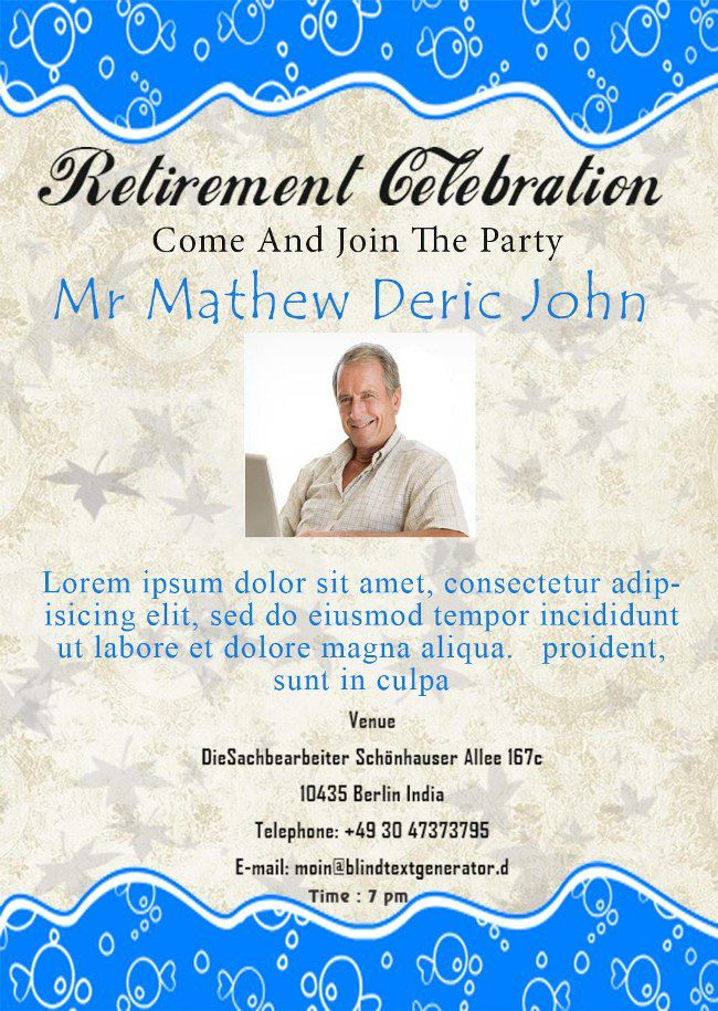 retirement announcement flyer template retirement flyer sample