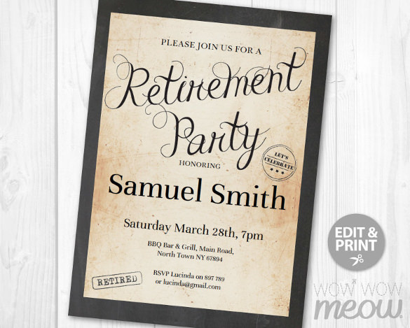 Retirement Flyers Retirement Party Flyer Template 9 Download