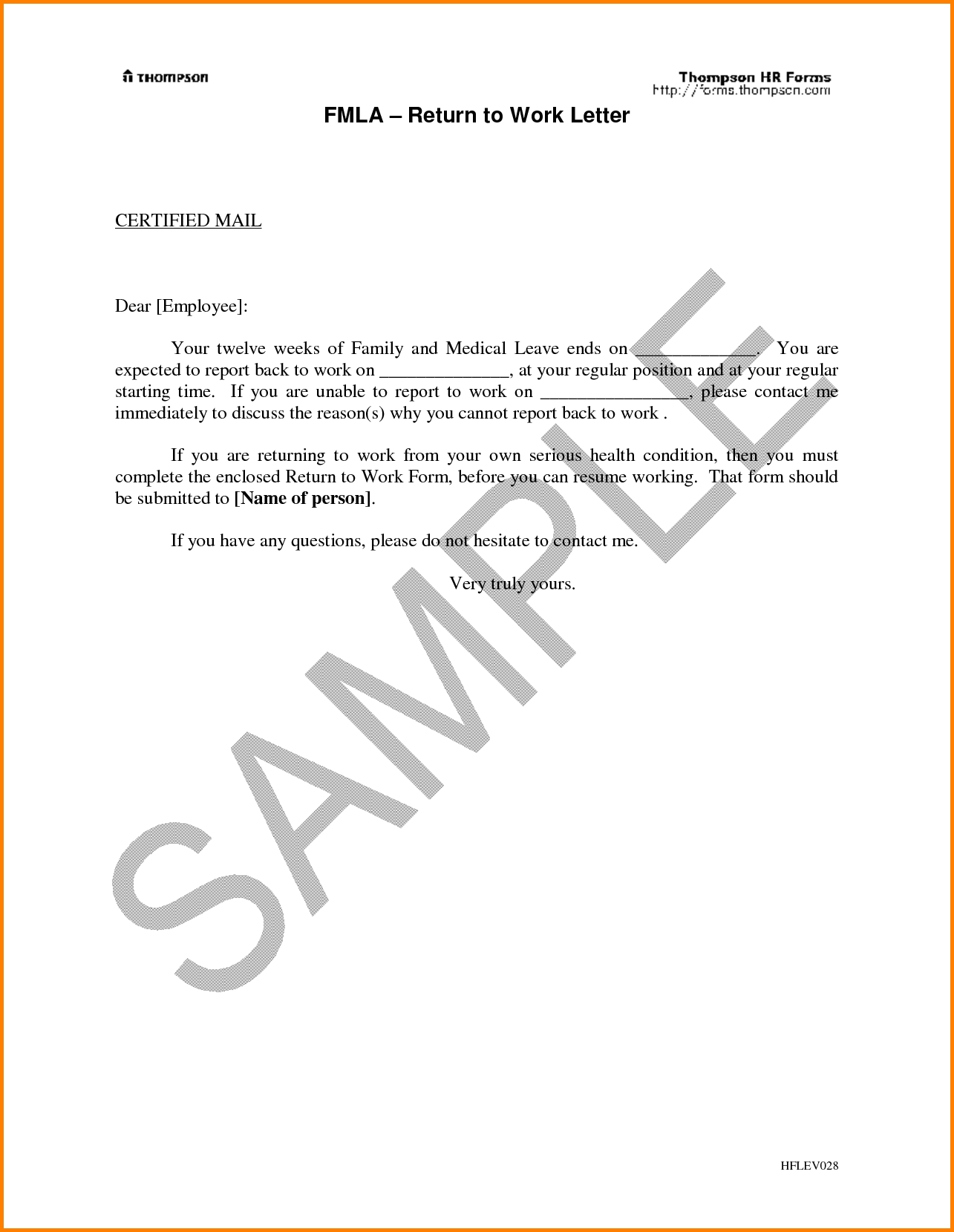 Return To Work With Restrictions Letter | beneficialholdings.info