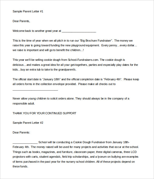 fundraising letter templates 10 fundraising letter templates free