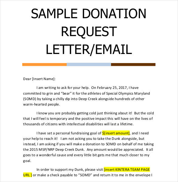 Sample Letter Asking For Donations Donation Letter Template 25
