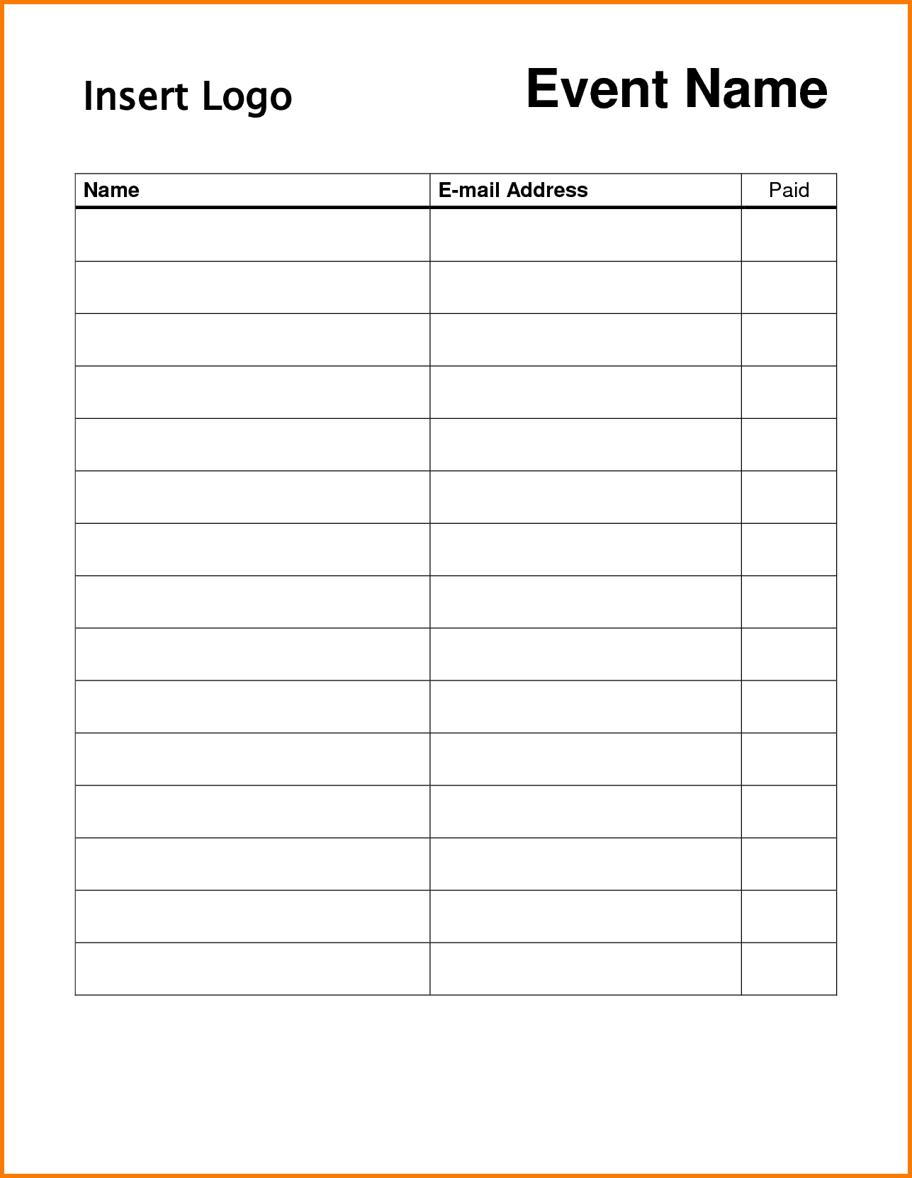 23+ Sample Sign Up Sheet Templates – PDF,Word, Pages, Excel