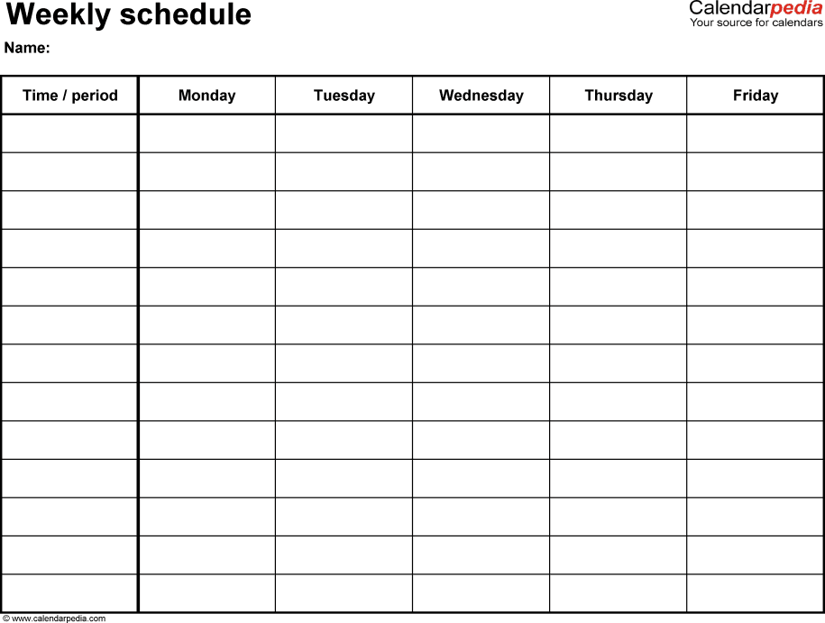weekly school schedule   Maggi.locustdesign.co