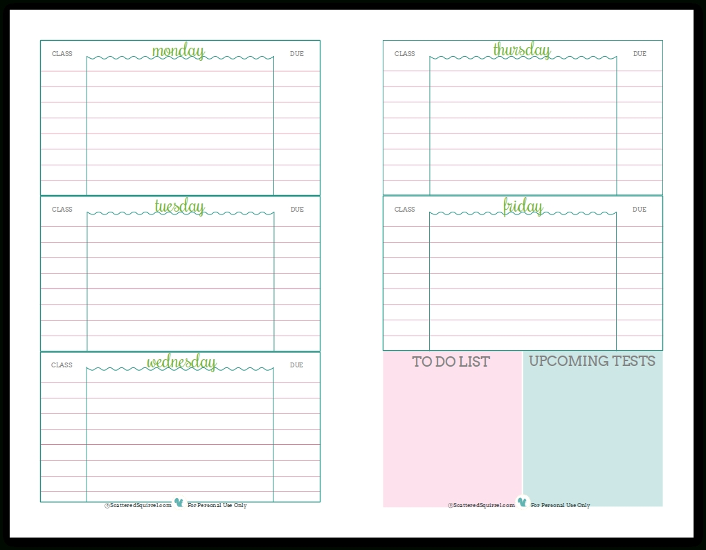 school planner templates   Maggi.locustdesign.co