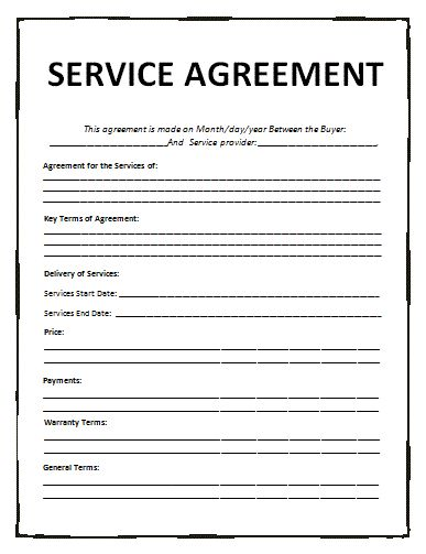 Service Contracts & Service Agreements with Samples