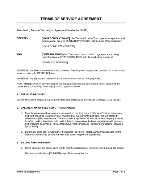 it agreement template advisory board agreement template service
