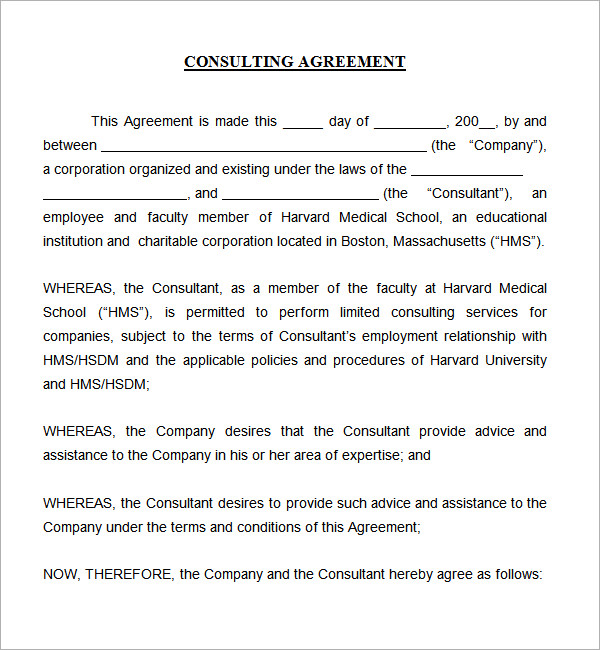 consultant agreement template free sample consultant agreement