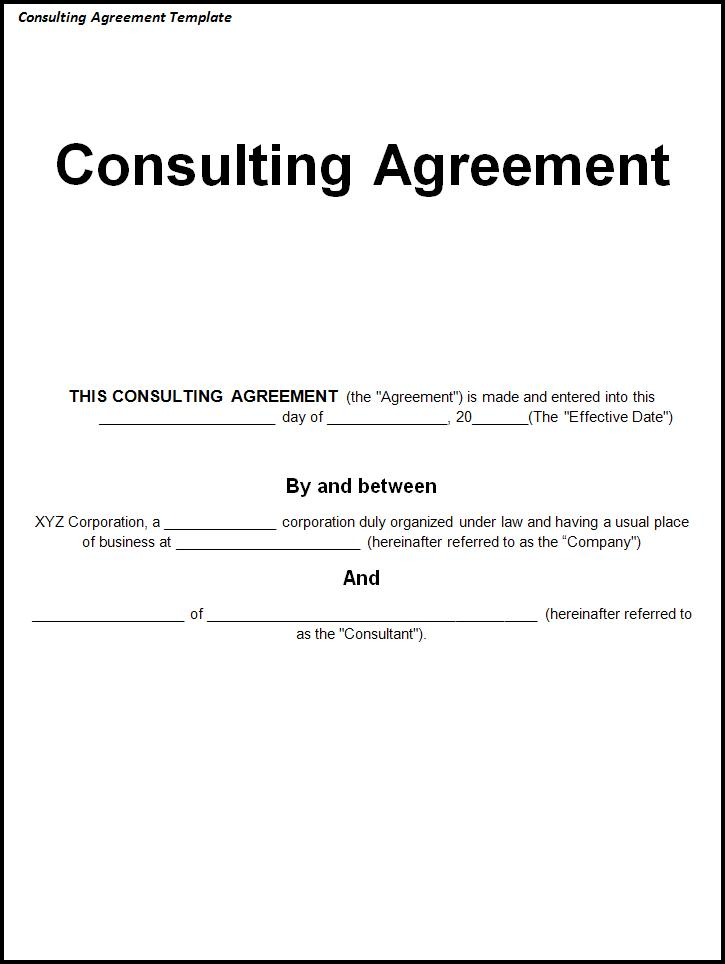 simple consulting agreement template consultant agreement template