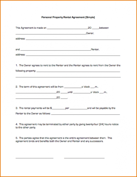 simple lease agreement template simple residential lease agreement
