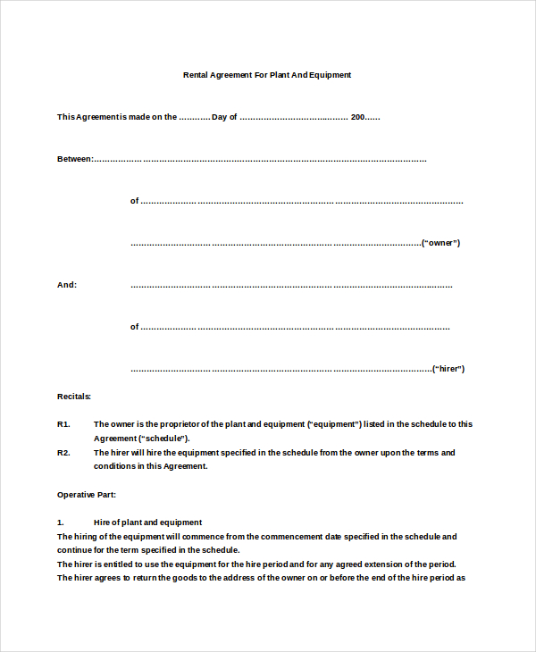 simple rental agreement template 19 basic rental agreement