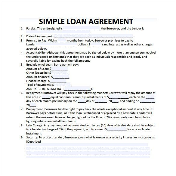 simple loan agreement template australia simple loan contract