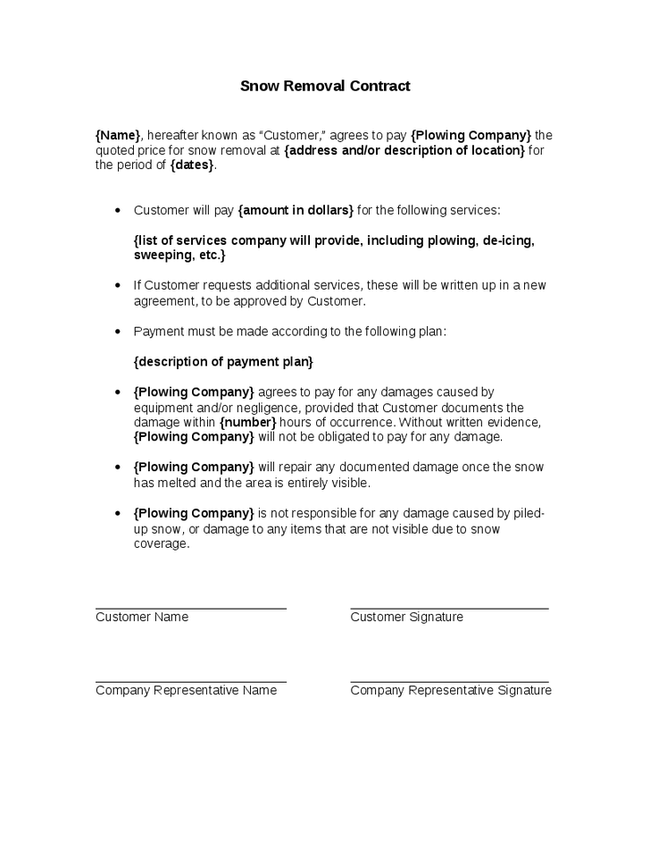Snow removal contract template contracts 1 plow fieldstation co
