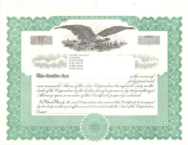stock certificate sample   Mini.mfagency.co