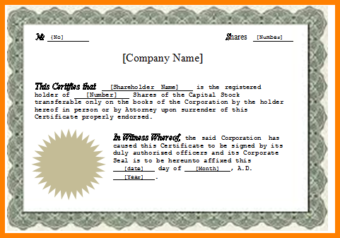 template for stock certificate stock certificate template ideas