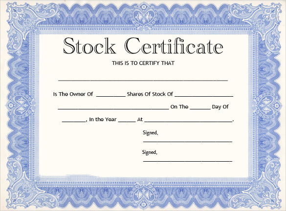 stock certificate template ms word stock certificate template word