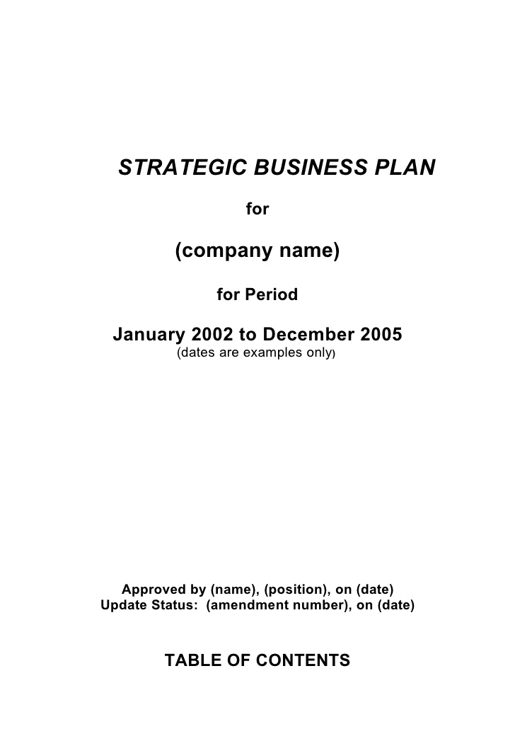 strategic business plan templates   Ecza.solinf.co