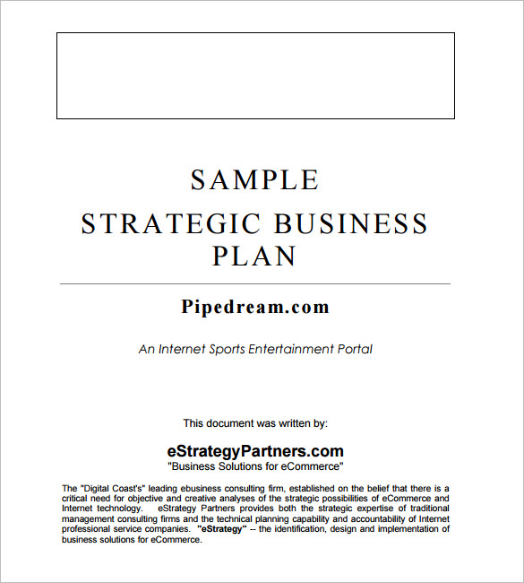creative business plan template word business strategic plan