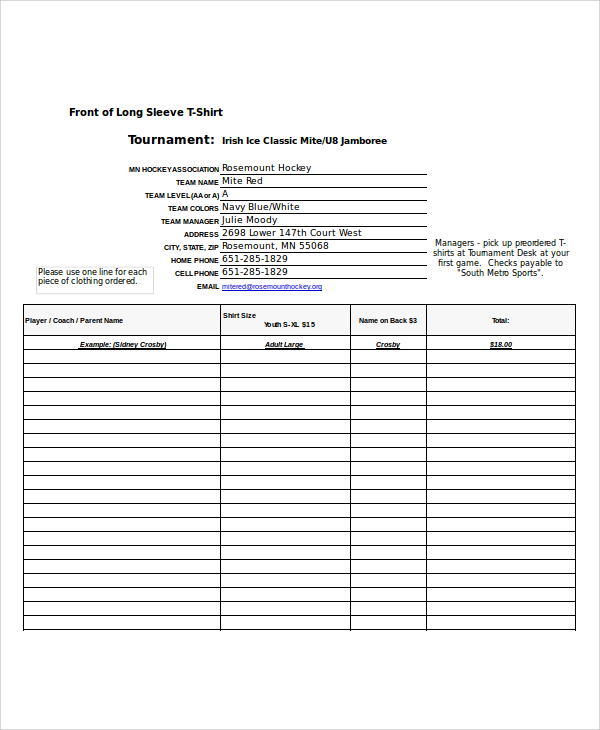 pick up order form template   Ecza.solinf.co