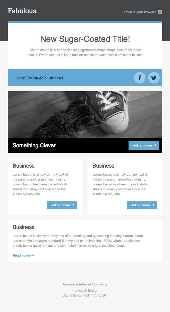 Newsletter Templates, Free Email Templates | CakeMail.com