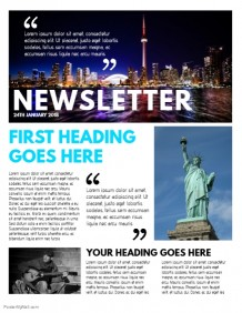 Design a Newsletter   Free Templates! | PosterMyWall