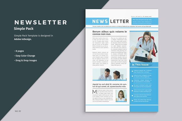 Business Newsletter Template ~ Brochure Templates ~ Creative Market