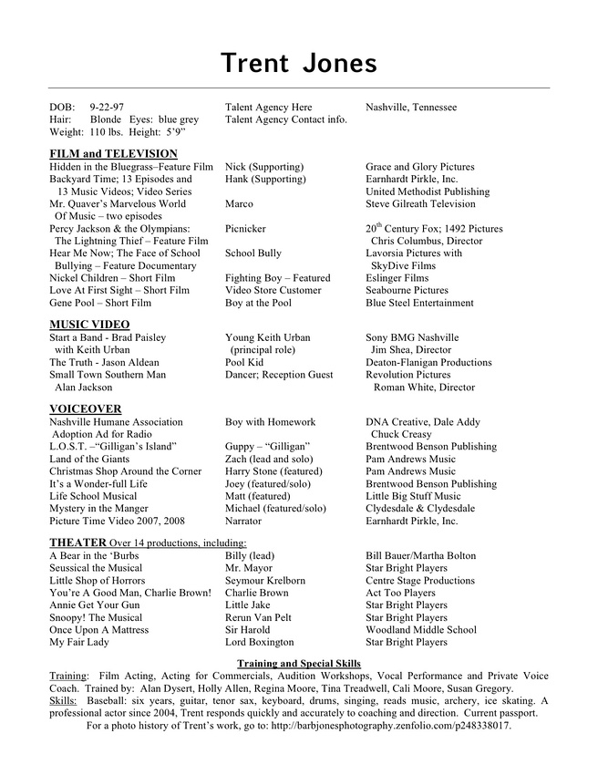 Theatre Resume Example Theatre Resume Example As Resume Summary
