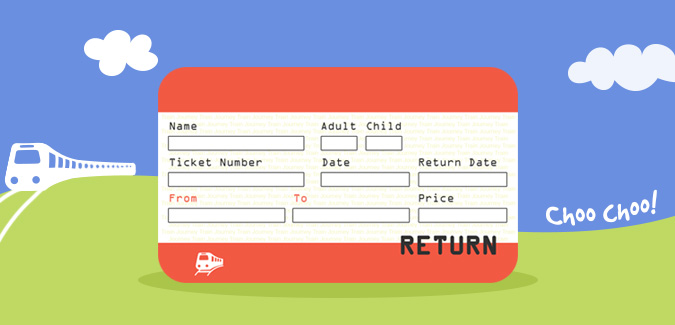 Blank Train Ticket Template (4) | Professional Templates For You