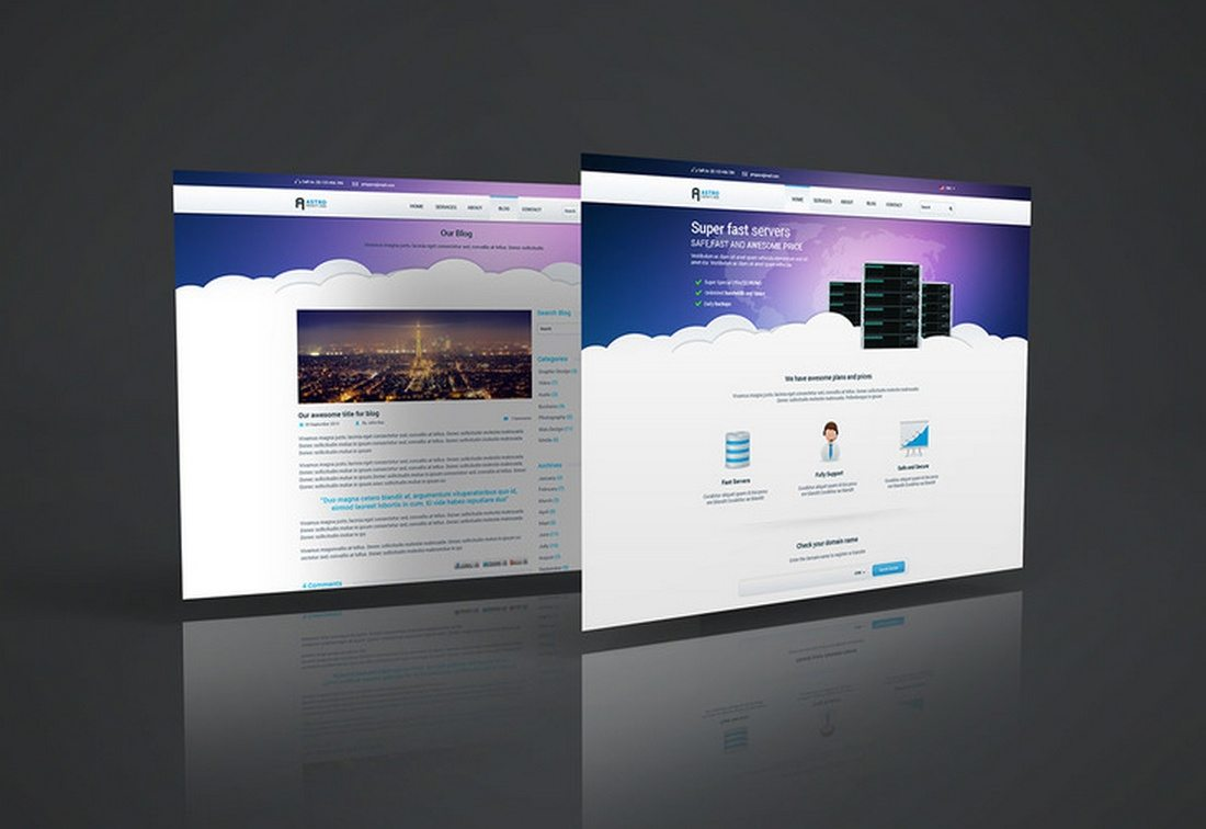20+ Best Website PSD Perspective Mockups | Design Shack