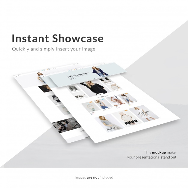 Webpage mock up PSD file | Free Download