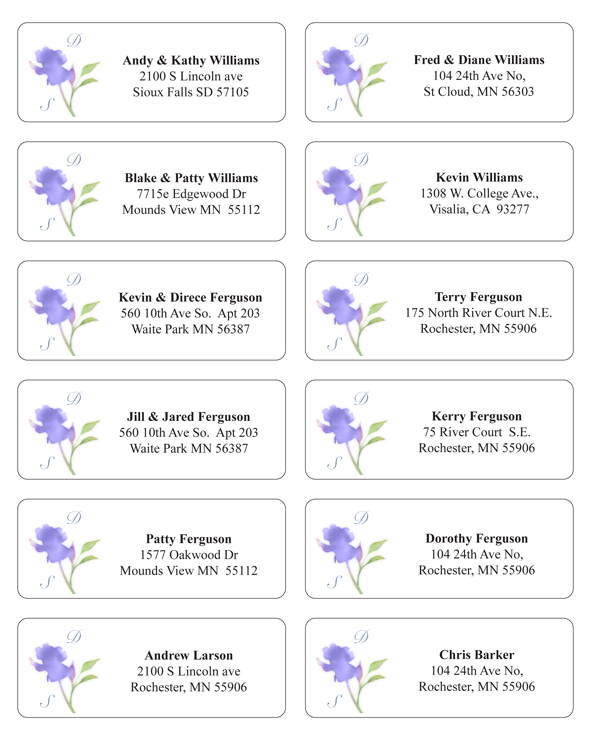 wedding address label template   Maggi.locustdesign.co