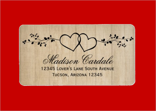 13+ Wedding Address Labels   , PSD Download | Free & Premium