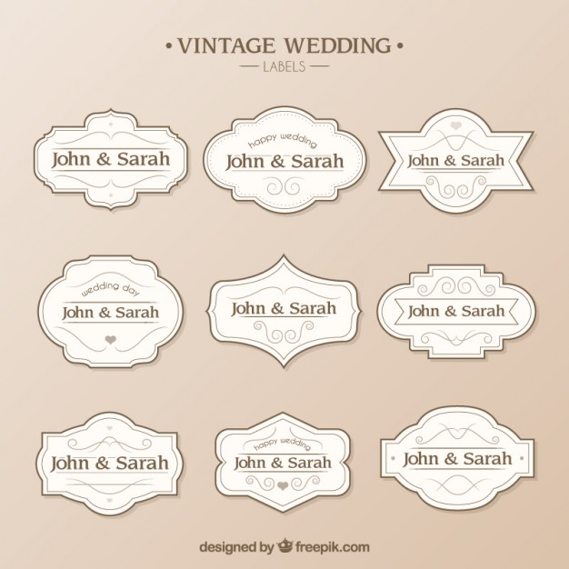 10 Wedding Label Templates   SampleTemplatess   SampleTemplatess