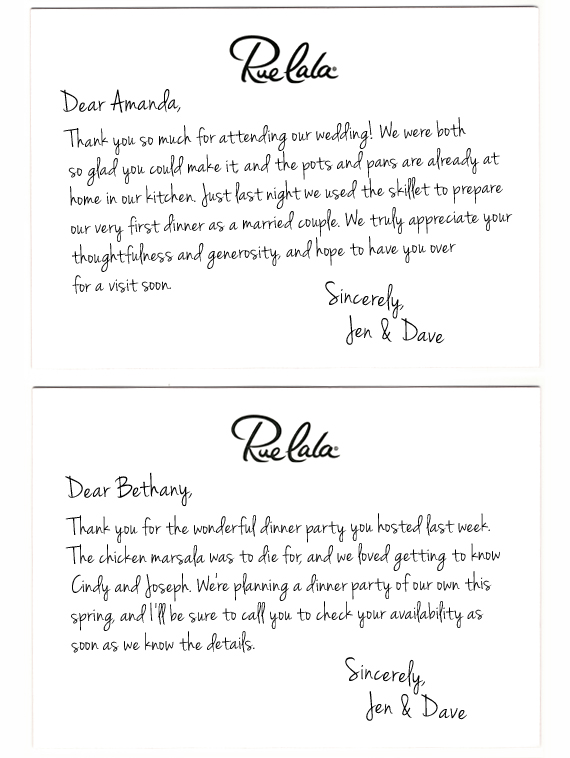 Clic Courtesy The Art Of Thank You Note Rue Now