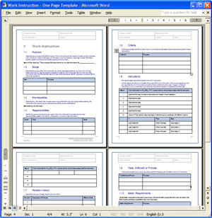 Work Instructions (WI) Template | 4 page Work Instructions T… | Flickr